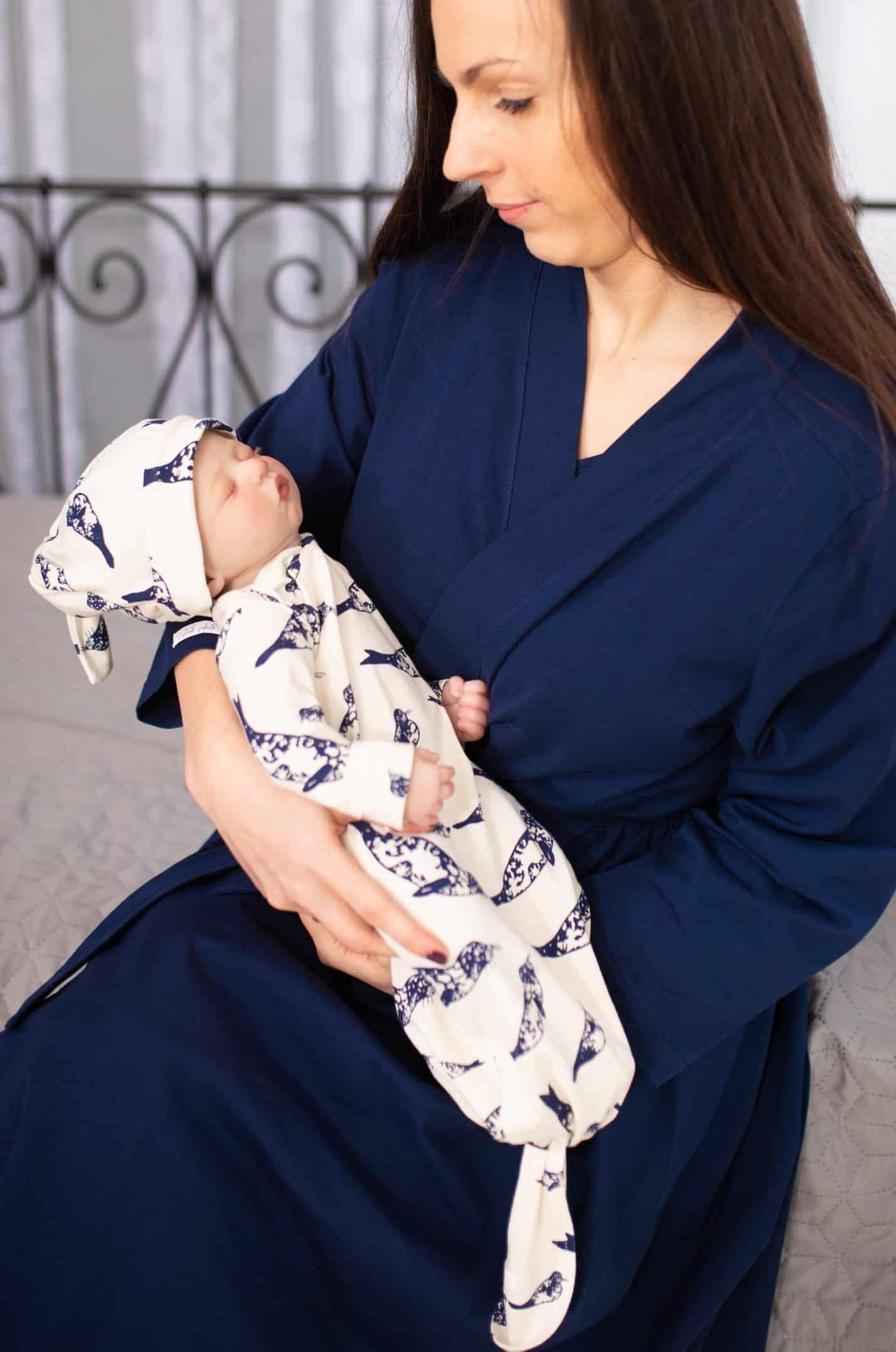 Royal Blue & Baby Seal baba-mama szett